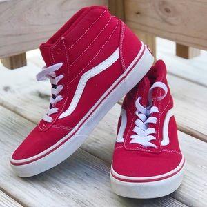 Vans Ward Hi Red/White